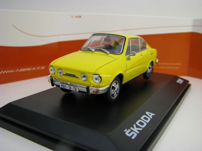 Škoda 110R Coupé 1980 Solar Yellow 1:43 Abrex